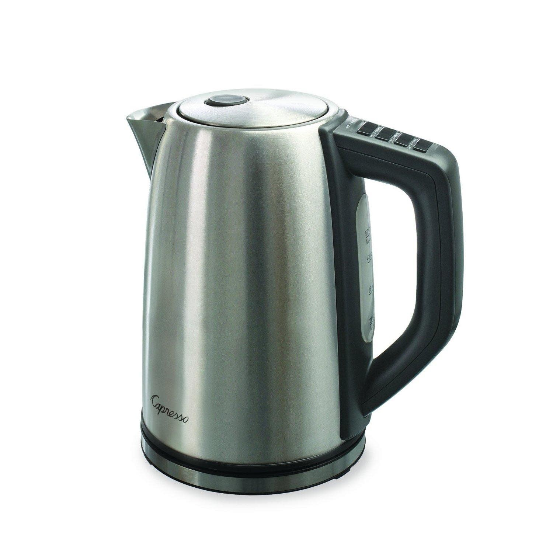 Capresso Electric Tea Kettle - Stainless Steel Adjustable Temp. 56oz
