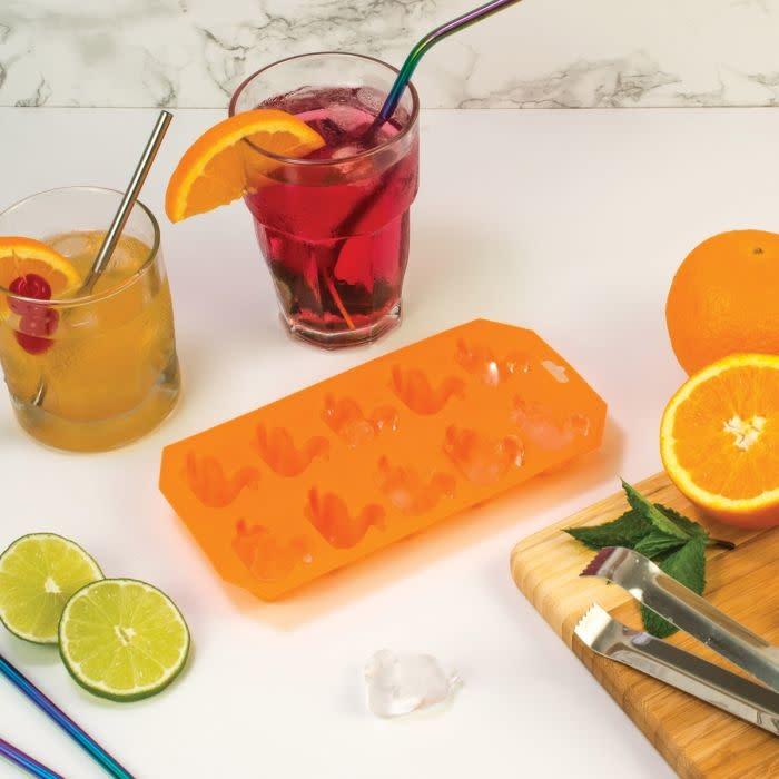 Harold Imports Co. Ice Tray Mold Duck Orange