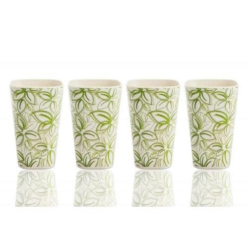 Culinary Edge Outdoor Dinnerware Bamboo-Composite Cups 10oz - Spring Bud Set of 4