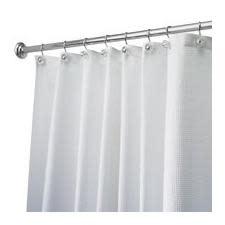 Interdesign Shower Curtain - Carlton White (Stall Size)
