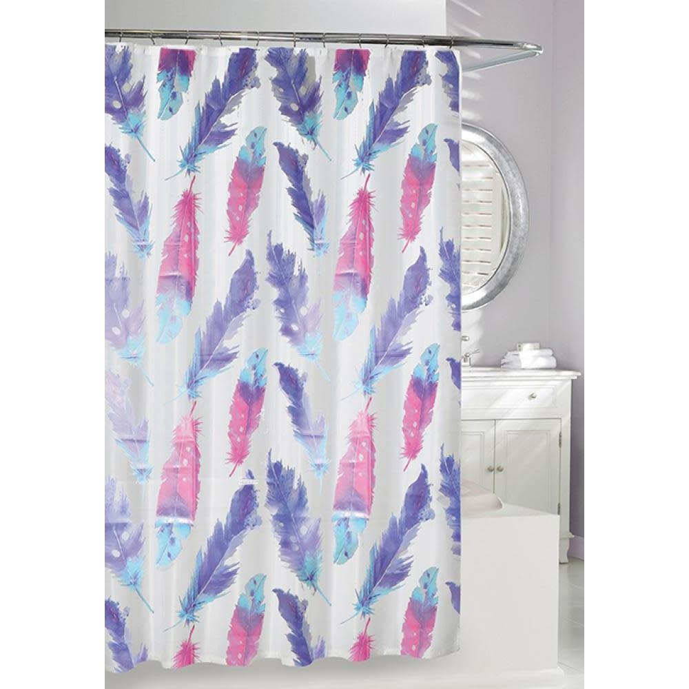 Moda At Home Shower Curtain EVA Painted Plume