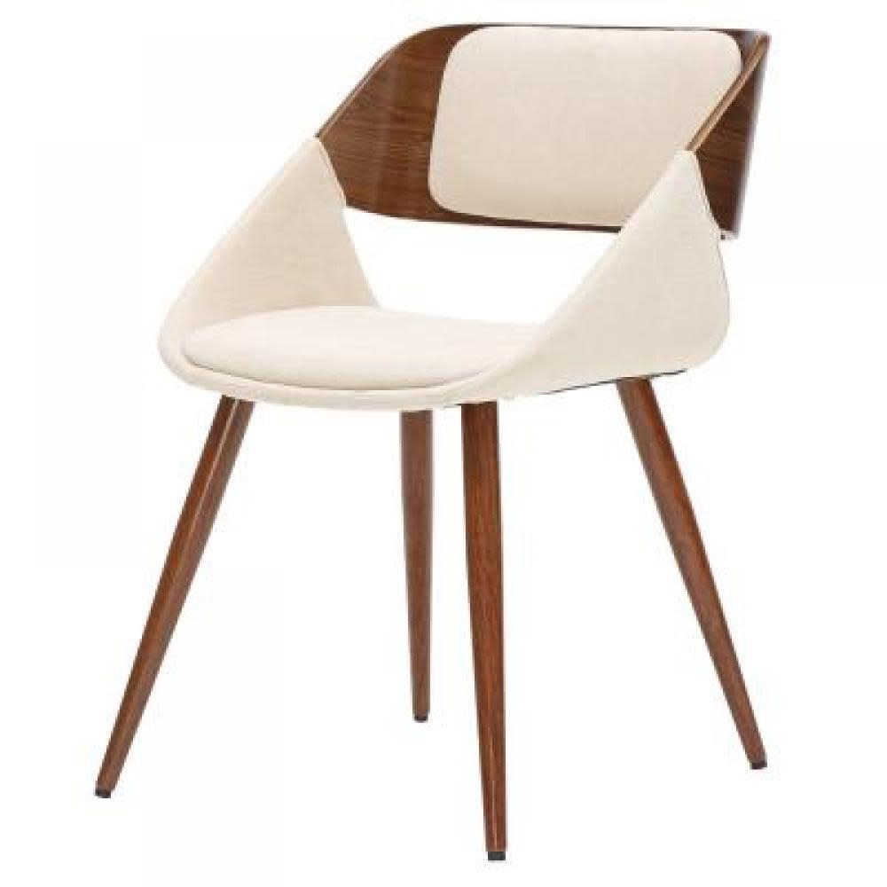 New Pacific Direct Cyprus KD Fabric Chair Santorini Sand Walnut