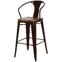 New Pacific Direct Metropolis Wood Seat With Arms Counter Stool 26in Black