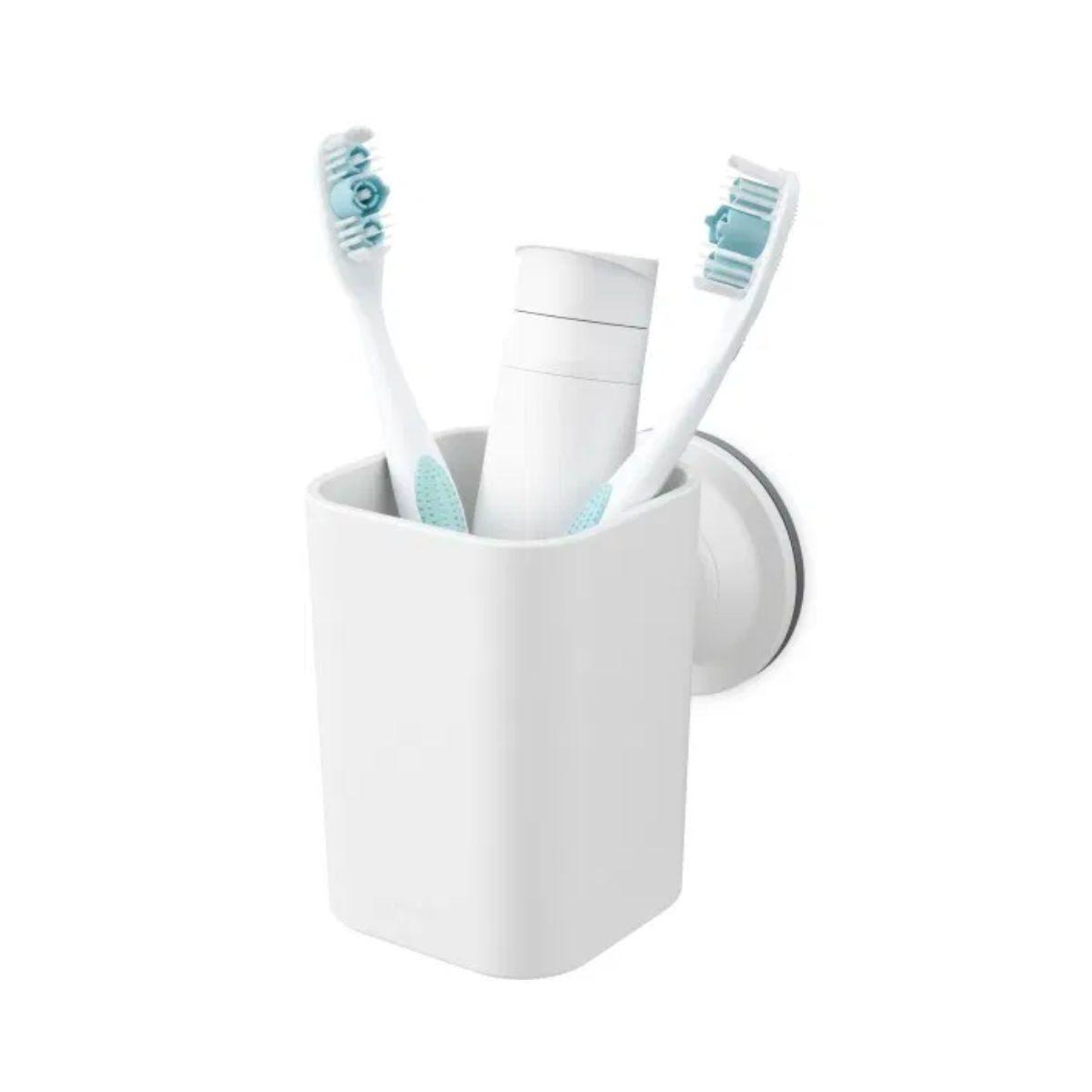 Umbra USA Inc. Toothbrush Holder/Organizer Sure-Lock White