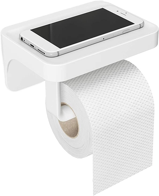 Umbra USA Inc. Flex Sure-Lock Toilet Paper Holder/Shelf White