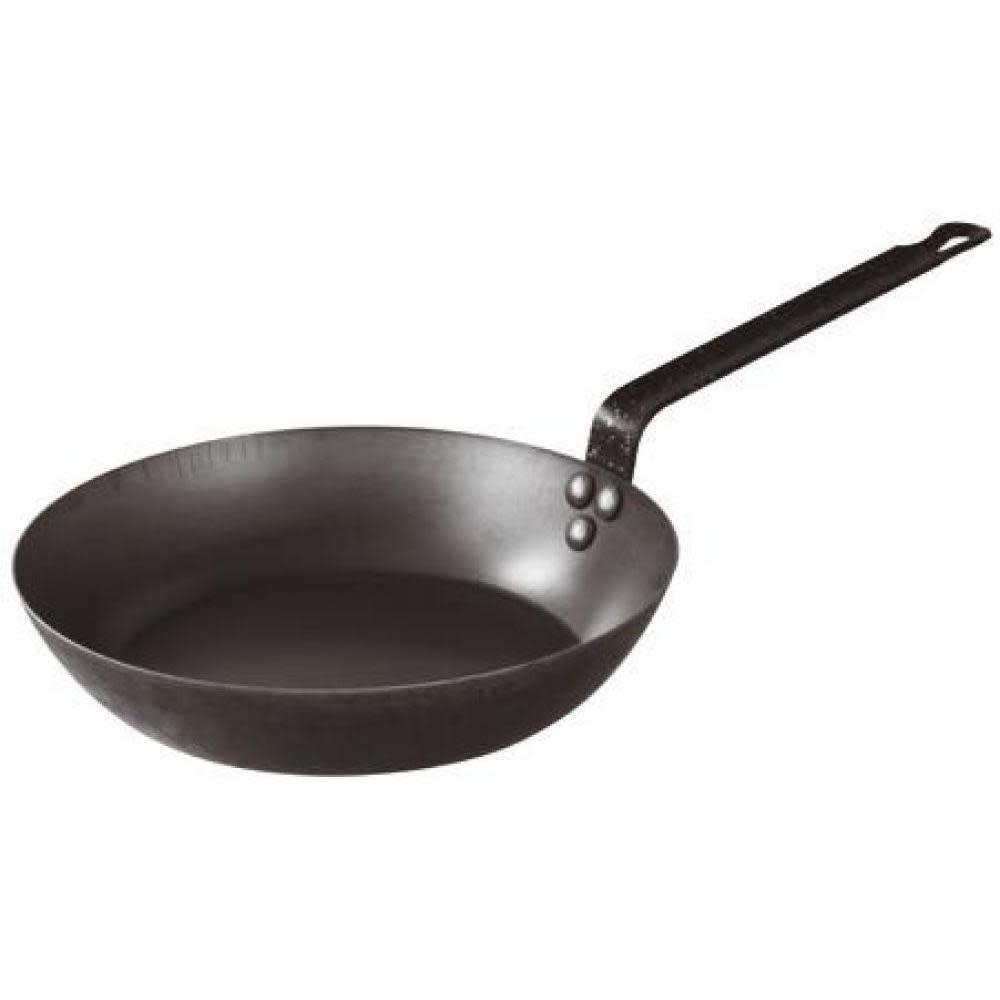 "BelleVie Black Carbon Steel Frying Pans 9.5"""