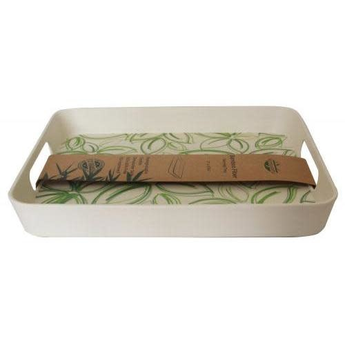 Culinary Edge Serving Tray Composite Rectangular Sided Spring Bud 12x09in