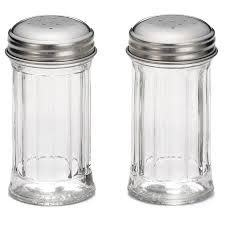 Table Craft Salt & Pepper Shaker Glass Perforated Stainless Steel