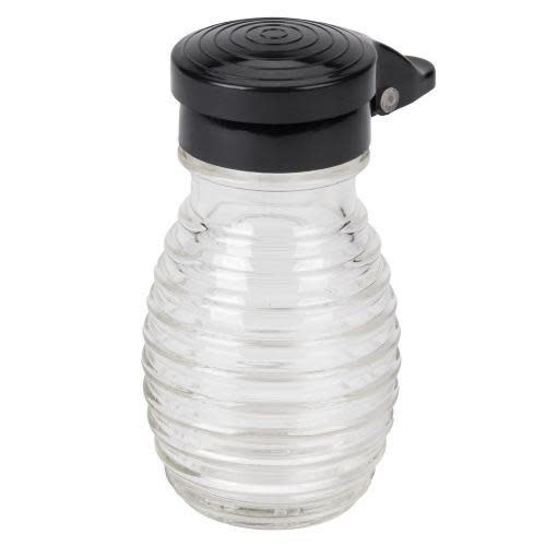 Table Craft Salt & Pepper Shaker Ribbed Black  Pop Top 2oz