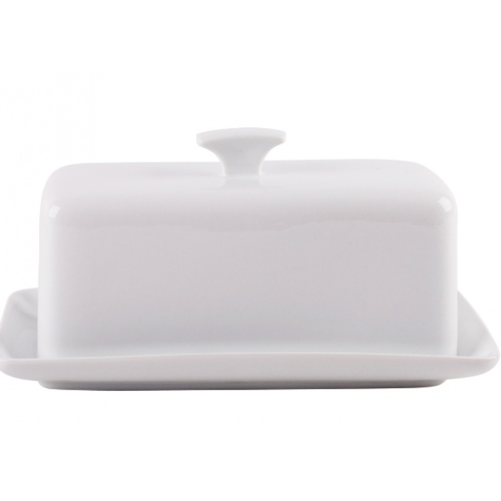 Home Essentials & Beyond Butter Dish - Fiddle & Fern 8inL