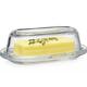 Home Essentials & Beyond Butter Dish - Glass Oval 8inL