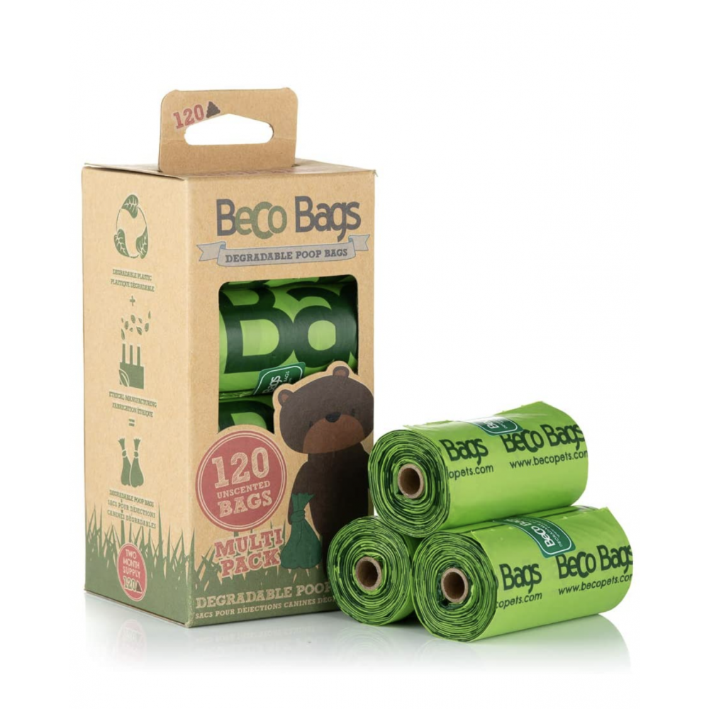 Pet Food Warehouse Dog Waste Bags Beco 120ct Unscented