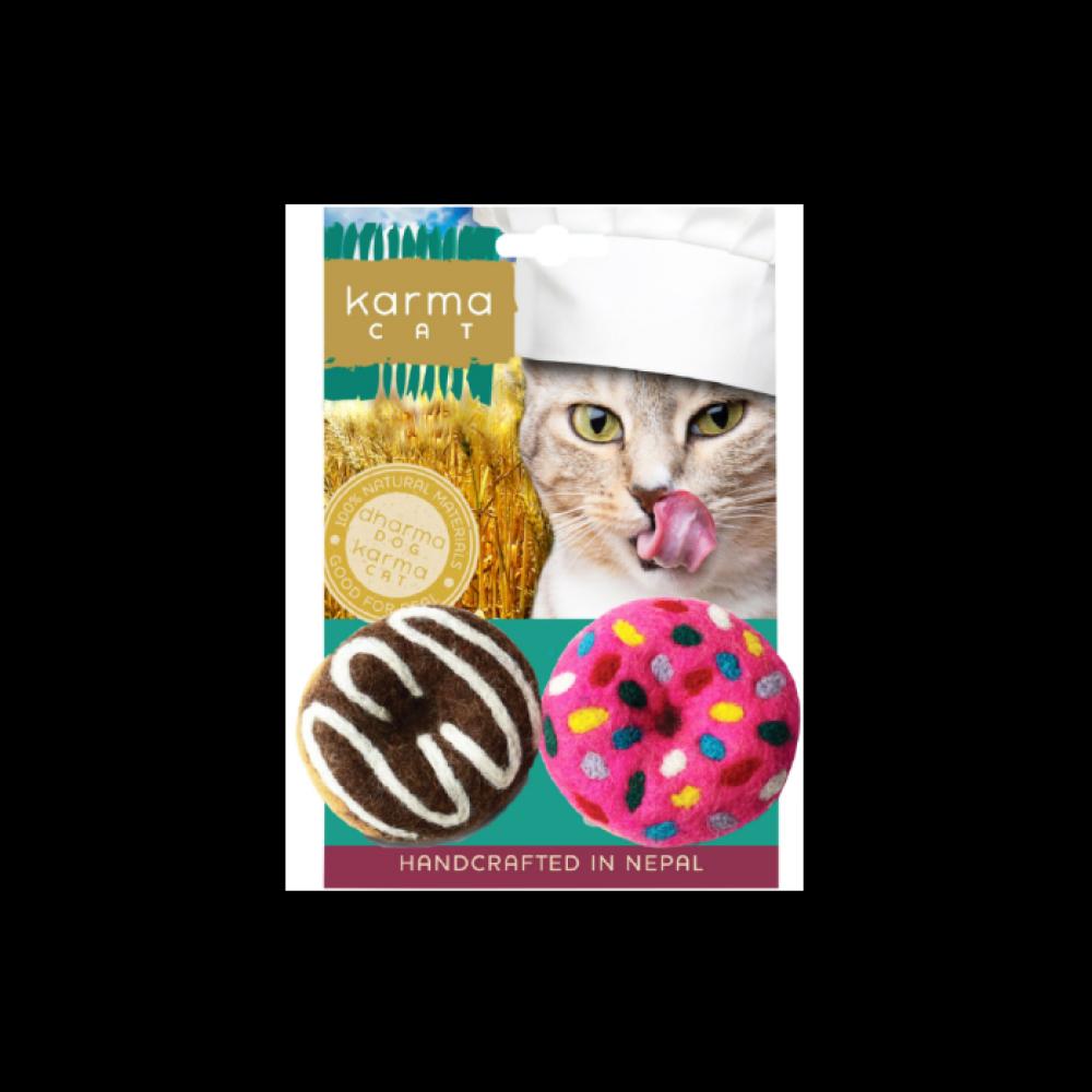 Pet Food Warehouse Cat Toy Dharma Dog Karma Cat Wool Donuts 2 Pack