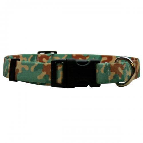Yellow Dog Clearance - Dog Collar 1in wide Medium 14inch-20inch Camo