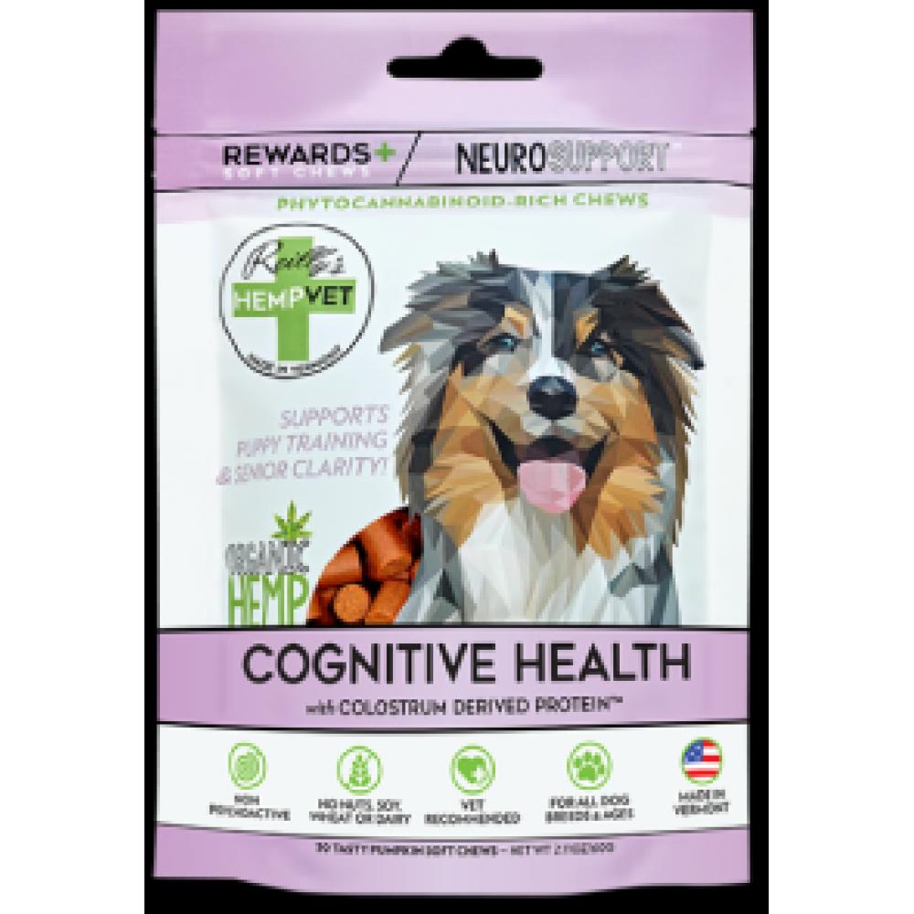 Pet Food Warehouse Dog Treat CBD Reillys Hempvet Neuro Rewards 30 Count Senior Health