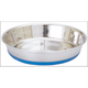 Pet Food Warehouse Food Bowl - Silver with Rubber Base