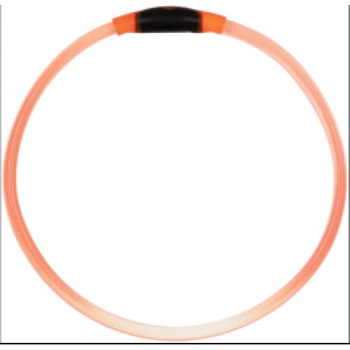 Pet Food Warehouse Dog Accessory Light Up Dog Safety Necklace Orange