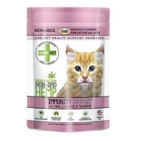 Pet Food Warehouse Cat CBD Hempvet Immunity Support 30ct