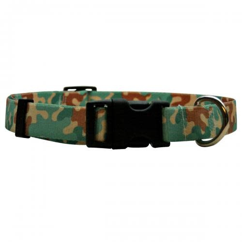 Yellow Dog Dog Collar - 1in wide Large 18inch-28inch Camo