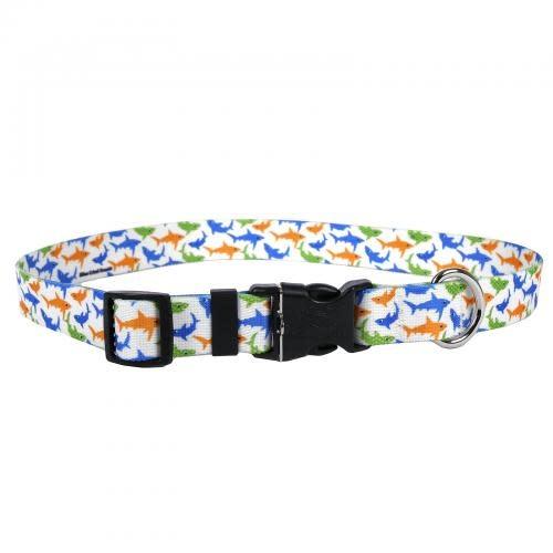 Yellow Dog Dog Collar 1in wide Medium 14inch-20inch Sharks