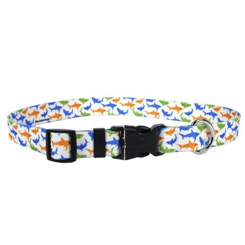 Yellow Dog Dog Collar 1in wide Large 18inch-28inch Large Sharks