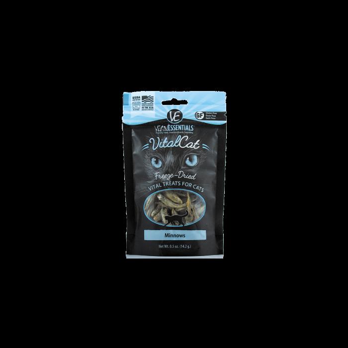 Pet Food Warehouse Cat Treat Vital Essentials Freeze Dried Minnows.5oz