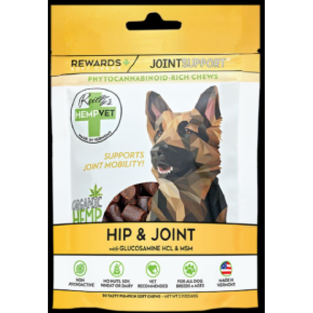 Pet Food Warehouse Dog Treat CBD Reillys Hempvet Hip and Joint Rewards 30 Count