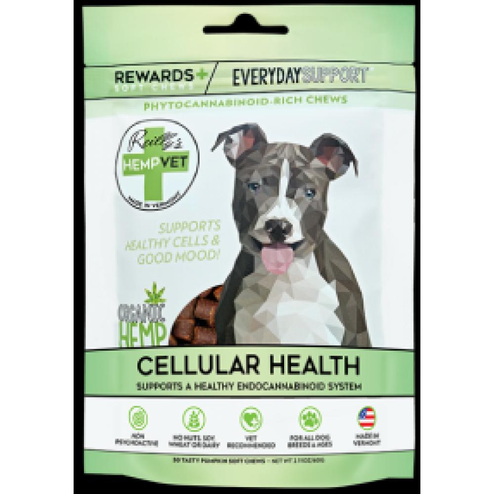 Pet Food Warehouse Dog Treat CBD Reillys Hempvet Everyday Rewards Mood Joint & Cognitive Wellness 30 Count
