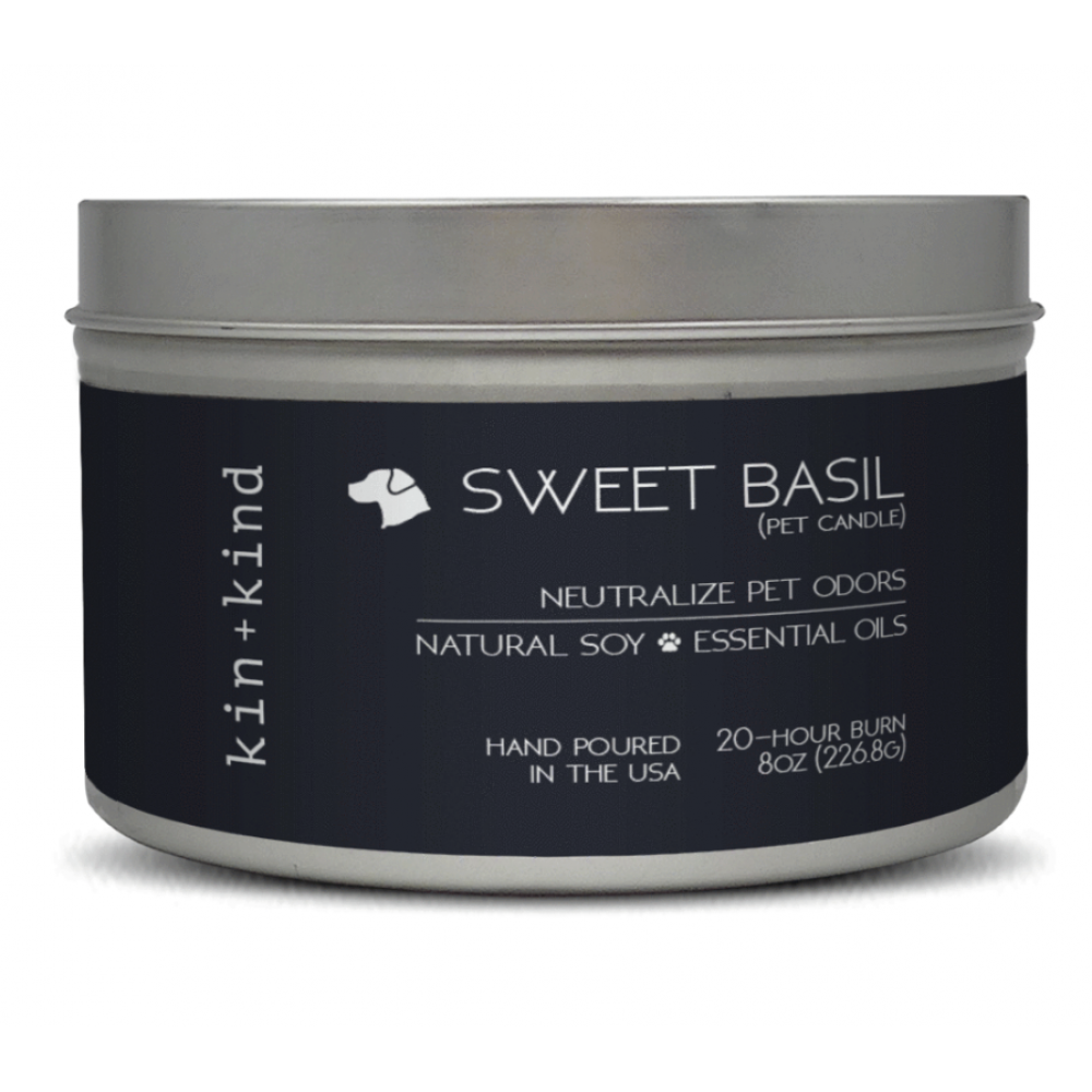 Pet Food Warehouse Pet Accessories Soy Candle with Essential Oils Neutralize Pet Odor Sweet Basil