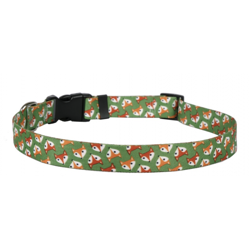 Yellow Dog Dog Collar 1in wide Medium 14inch-20inch Foxy