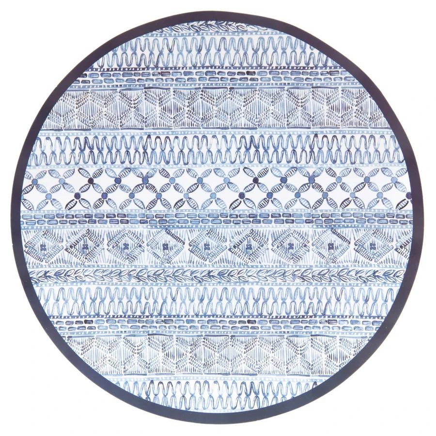 """Sophistiplate Paper Dinner Plate 10.5"""" Indigo Batik 8pk"""
