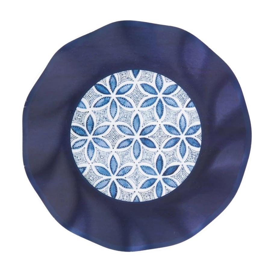 "Sophistiplate Paper Salad Plate 8"" Indigo Batik 8pk"