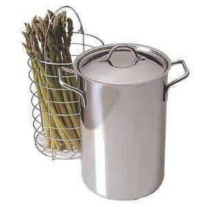 RSVP Cookware Steamer Stainless Steel Asparagus With Insert