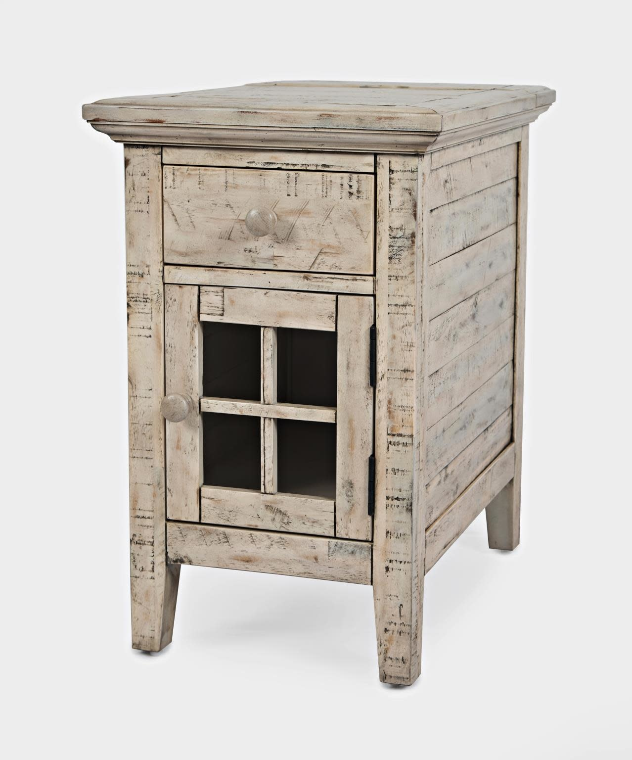 Jofran Rustic Shores Chairside Table Scrimshaw