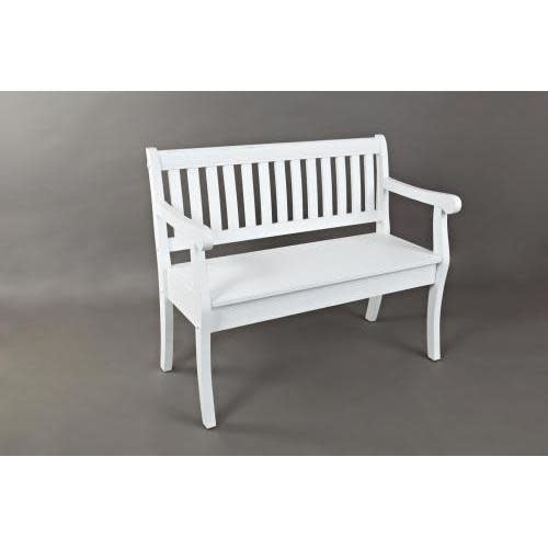 Jofran Artisans Craft Storage Bench Weathered White