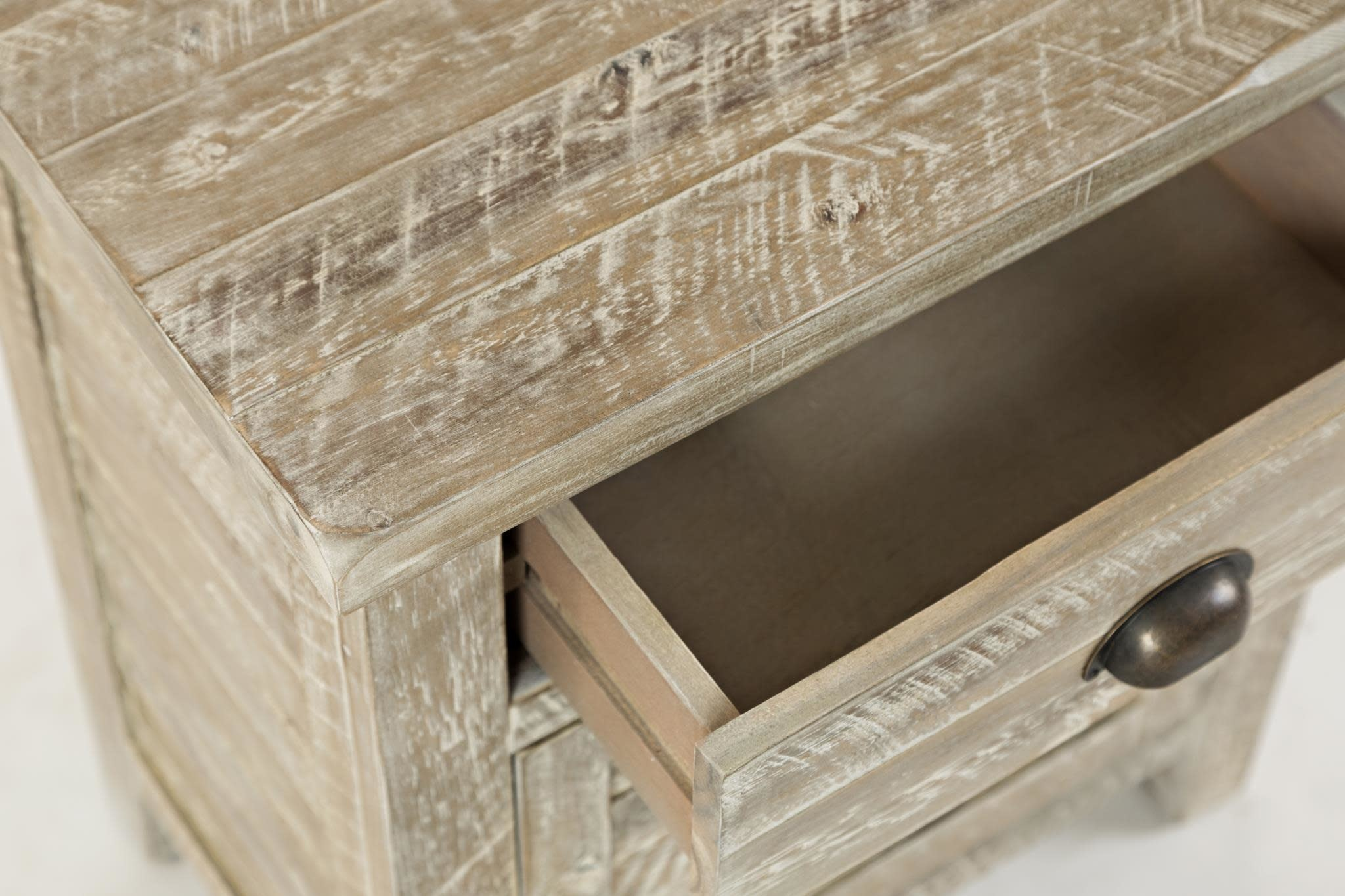 Jofran Artisans Craft Accent Table Washed Grey