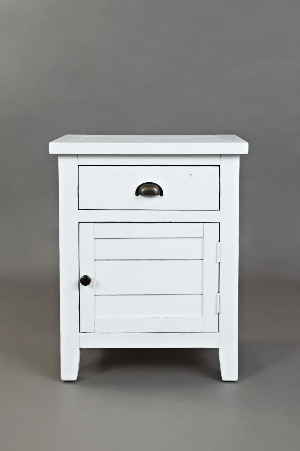 Jofran Artisans Craft Accent Table Weathered White