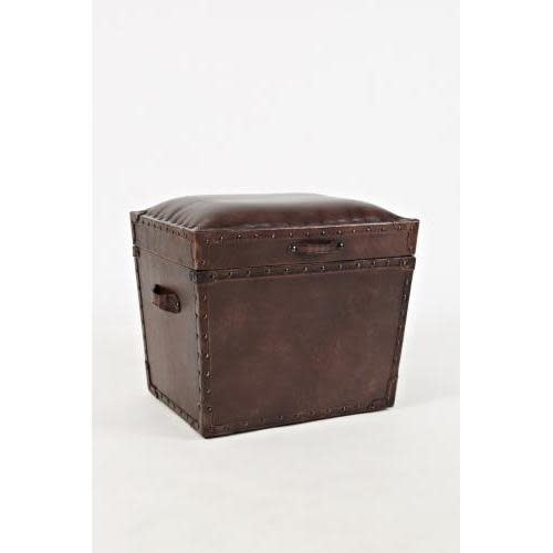 Jofran Global Archive Leather Storage Chest