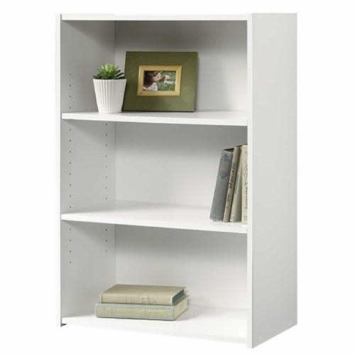 Sauder Beginnings Bookcase Soft White Three Shelf