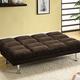 Furniture of America Saratoga Adjustable Sofa Futon Espresso Brown