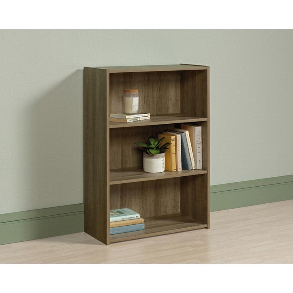 Sauder Beginnings Bookcase Summer Oak Finish Three Shelf