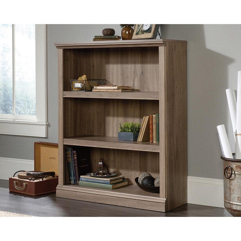 Sauder Sauder Select Bookcase Salt Oak Finish Three Shelf