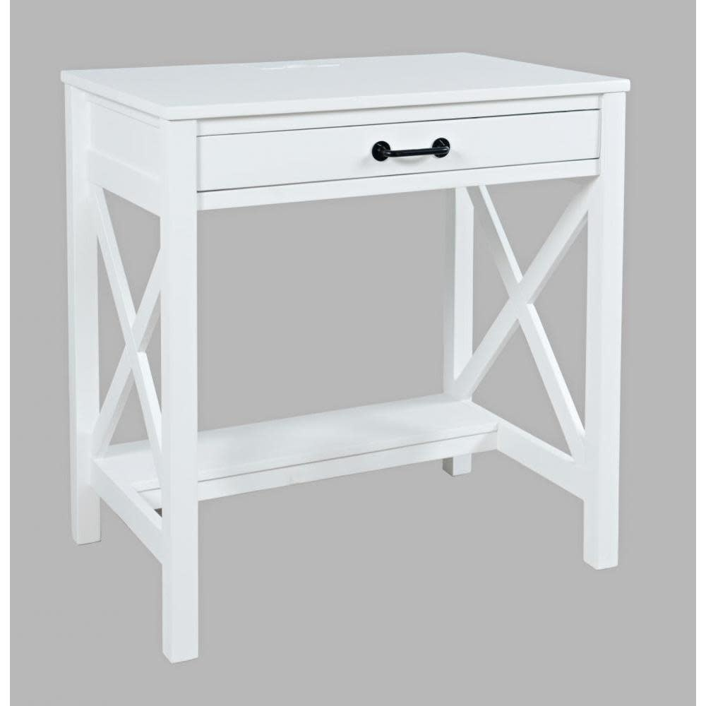Jofran Hobson Desk With Power Charging Station White