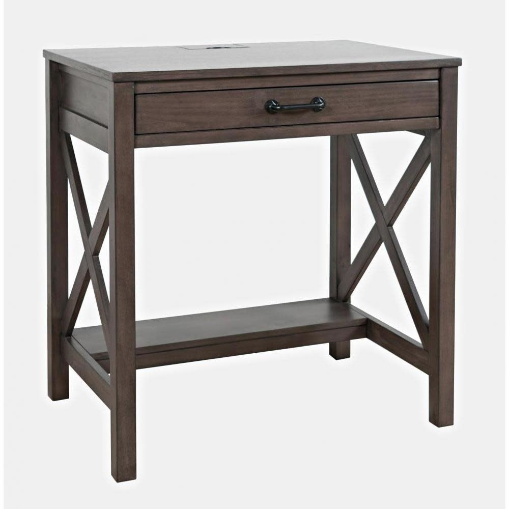 Jofran Hobson Desk With Power Charging Station Grey