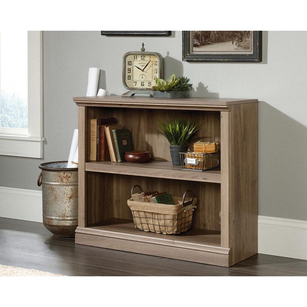 Sauder Sauder Select Bookcase Salt Oak Finish Two Shelf
