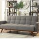 Furniture of America Nettie Adjustable Sofa Futon Grey