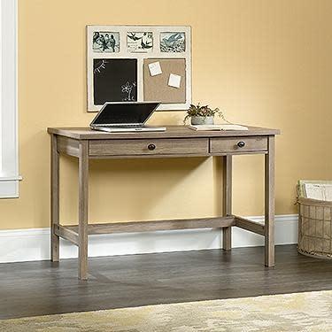 Sauder County Line Writing Desk Salt Oak Finish