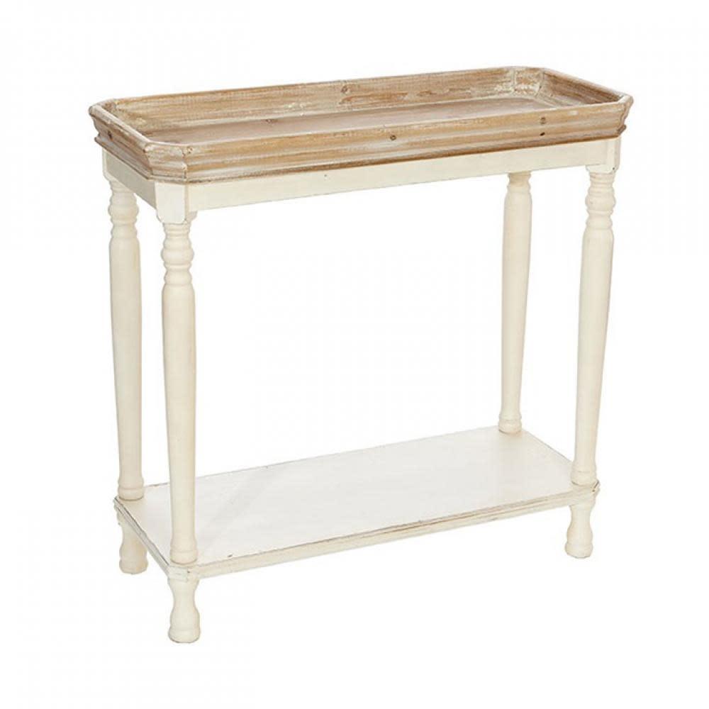 RAZ Everyday Distressed White Side Table