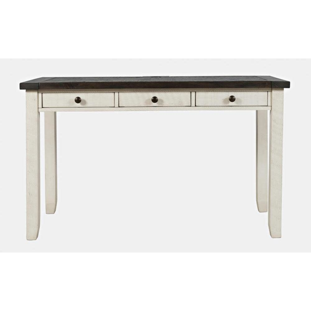 Jofran Madison County Desk With Power Charging Station Vintage White