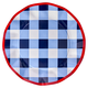 """Sophistiplate Paper Dinner Plate 10.5"""" Blue Check 8pk"""